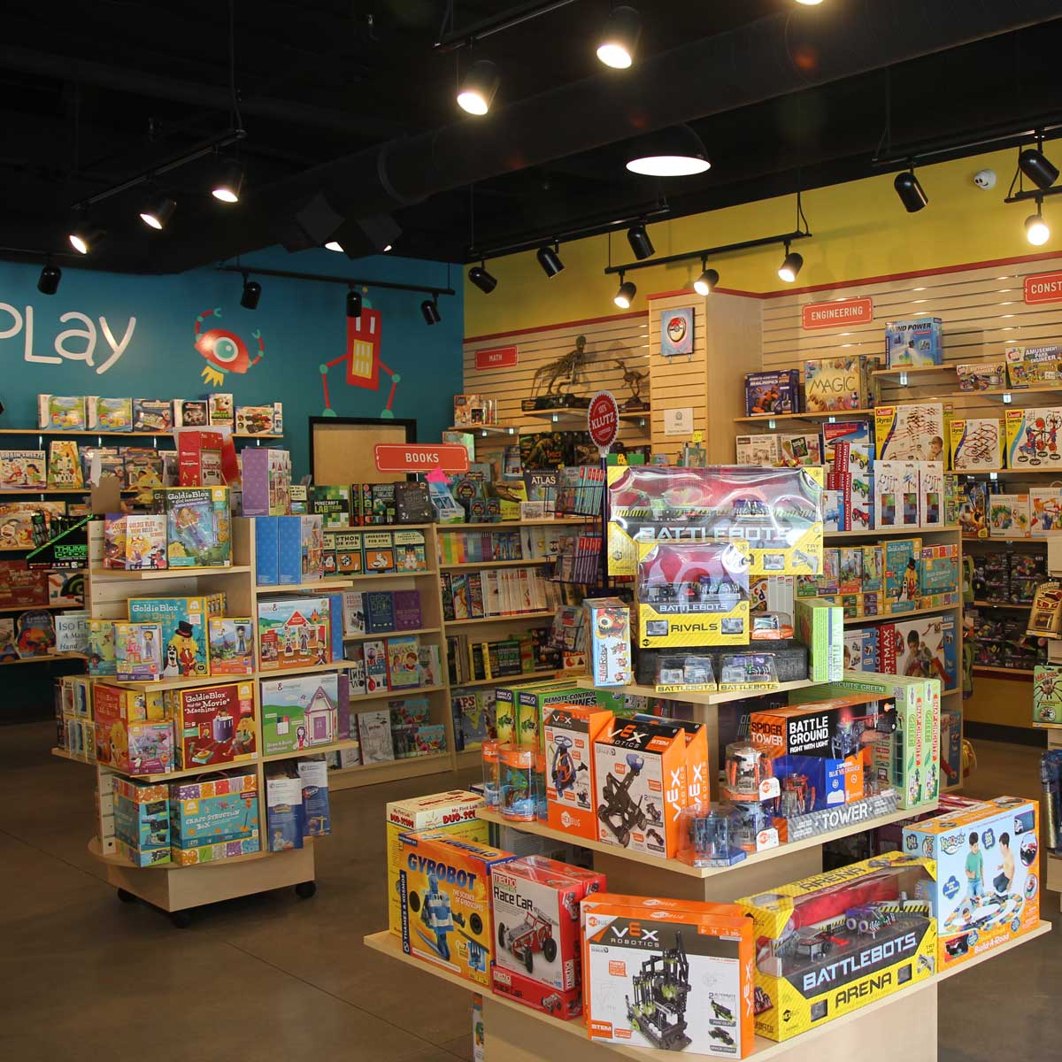 Toy store games electrical services retail