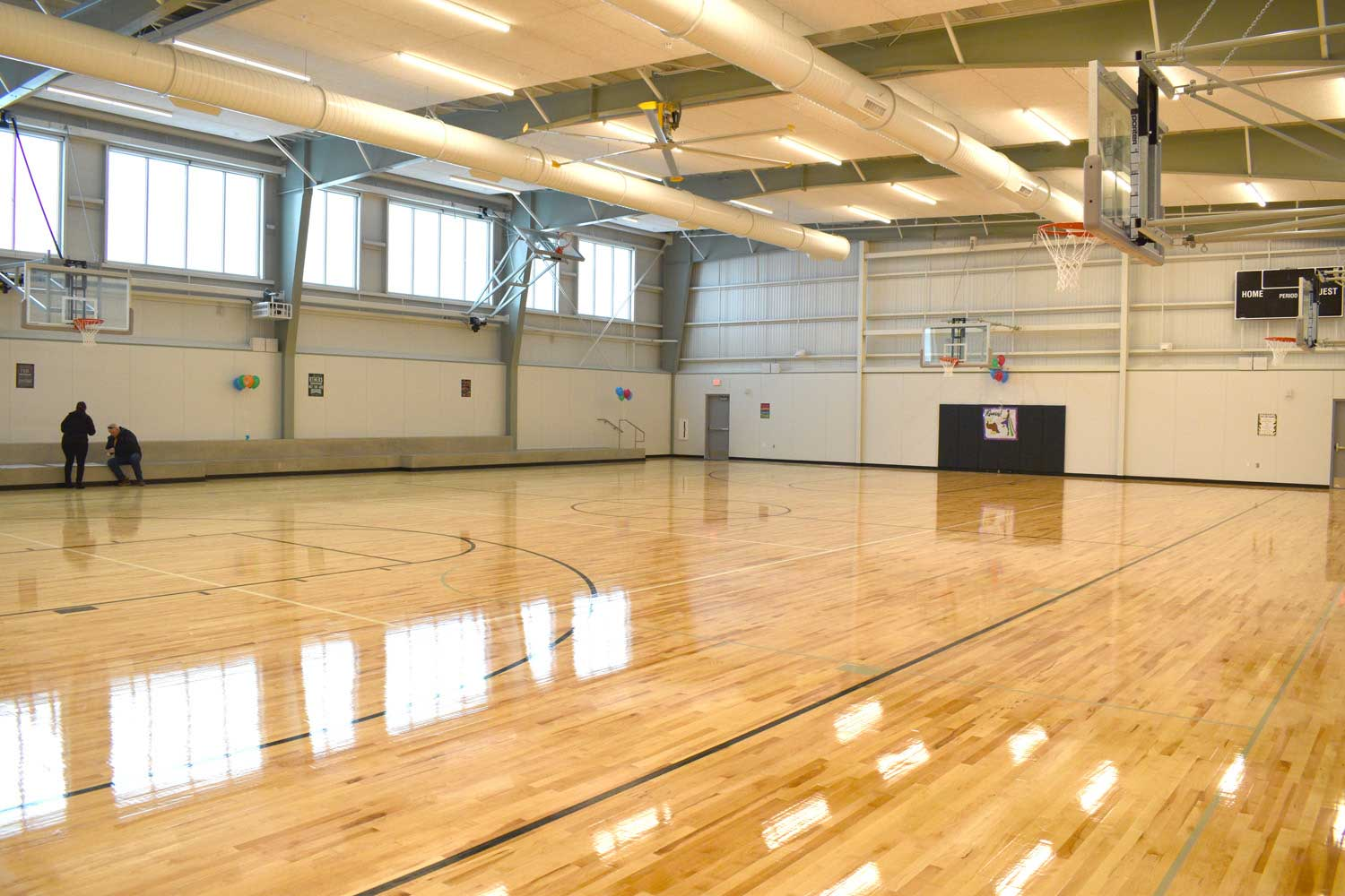 School gym floors electrical services