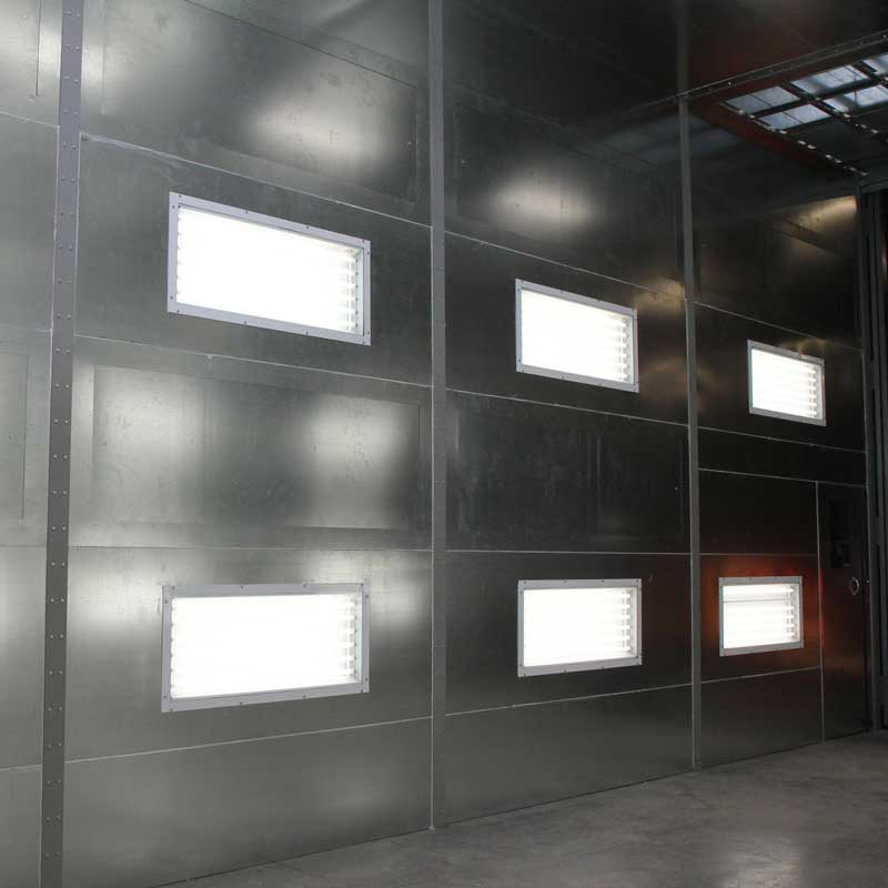 metal wall lights spray booth industrial Electrician Oregon